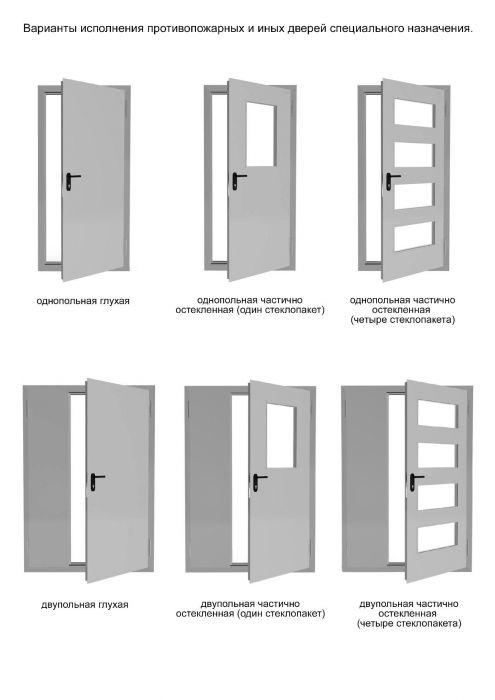 двери стальные специальные противопожарные